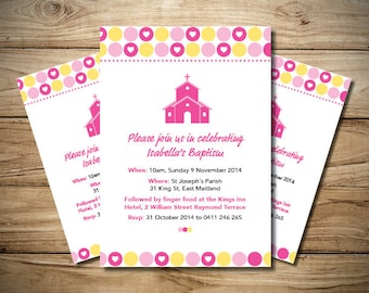 Girls Christening Church Invitation