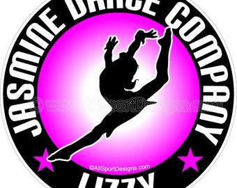 "Dance Car Decal 109 4.5"". Choose YOUR Wording, Colors! Team Discounts!"