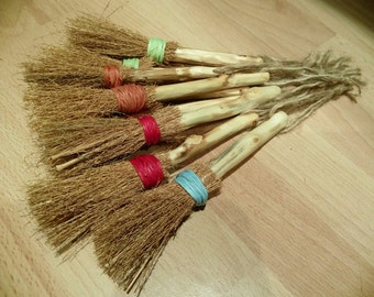 Handmade Small Mini Besom, Witches Broomstick, Alter, Spells, Pagan, Halloween, Wicca