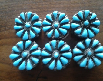 Turquoise Decorative Button Covers-6 Button Jewelry or Clothing Accessory