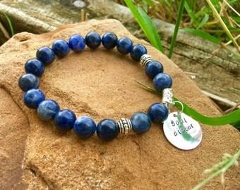 Sodalite, Sodalite Bracelet, Sodalite Chakra Bracelet, Healing Stone, Healing Crystal, Blue Beaded Bracelet, Blue Bracelet,Stretch Bracelet