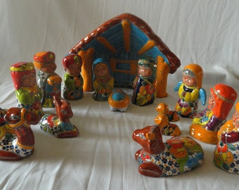Talavera Nativity Set - 15 pieces