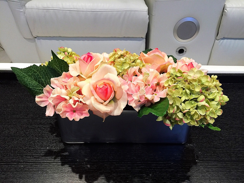 Spring floral centerpiece summer flower arrangement by flaural