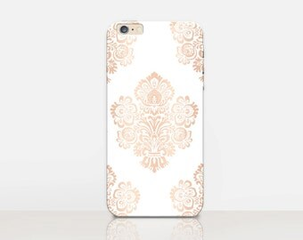 Rose Gold Floral Phone Case iPhone 7 Case - iPhone 7 Plus Case - iPhone SE Case - iPhone 6S case - iPhone 6 case - iPhone 5 Case  Samsung S7
