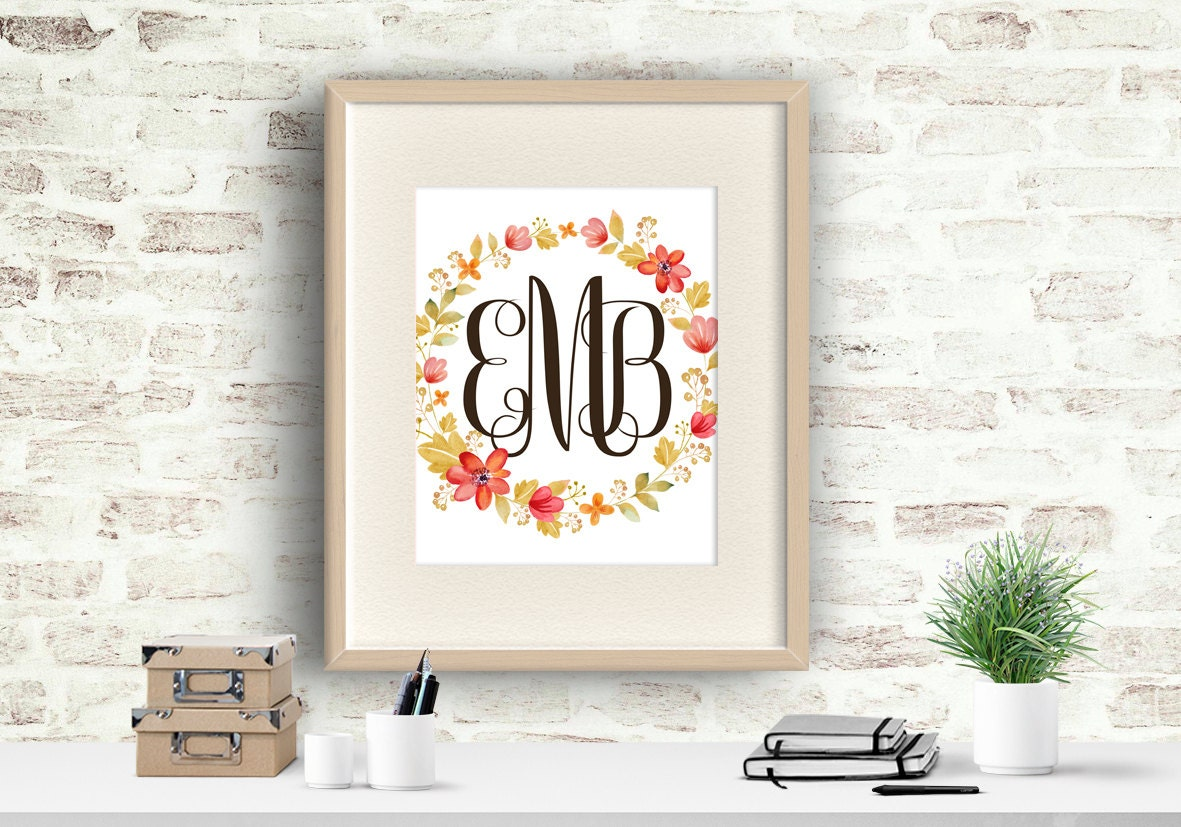 Personalized Wall Decor Letters : Wall decor name monogram letters