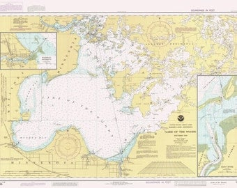 Lake of the Woods Historical Map 1990