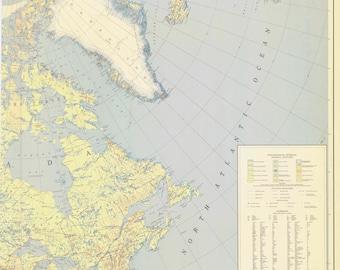 Northern Hemisphere - Historical World Map 1945
