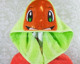 Charmander Pokemon Inspired Hooded Towel on High Quality Belk Department Store Towels