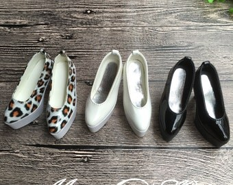 1/3 1/4 BJD Dollfie MSD Doll High Heeled Shoes 3 colors available