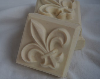 Rose goat milk soap with shea butter and jojoba oil