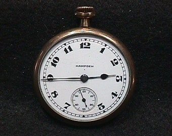 Antique Hampden No. 307 Open Face Pocket Watch  # 29