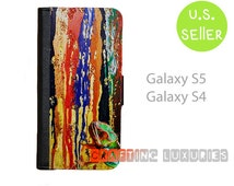Samsung Galaxy S5 Wallet Case, Chameleon Galaxy S4 Wallet Case, Best Book Style,  FREE SHIPPING in the US