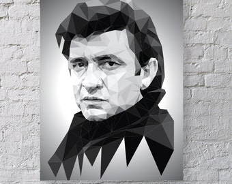 The Man in Black - Johnny Cash print