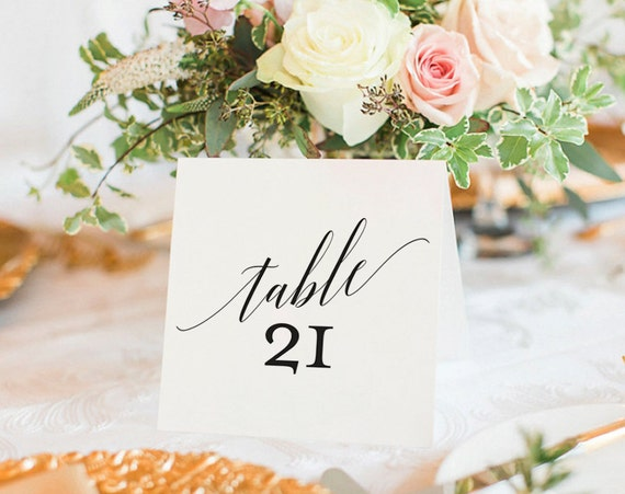 table numbers template for weddings - table numbers printable wedding table numbers table number