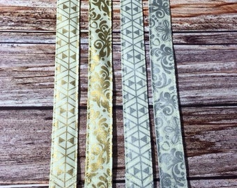 Gold and Silver Foil Pacifier Clips for your Binky