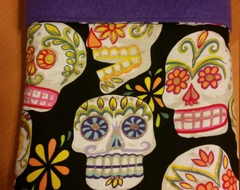 Colorful Sugar Skull, Day of the Dead, Calaveras, Baby Blanket