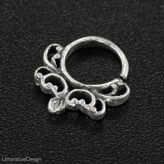 Sterling Silver Tragus Earring. helix hoop. helix earring. Material: Brass / sterling silver / gold plated sterling silver