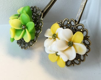 Lime Yellow Hair Bobby Pins Hair Accessories Christmas Gift Celebration.