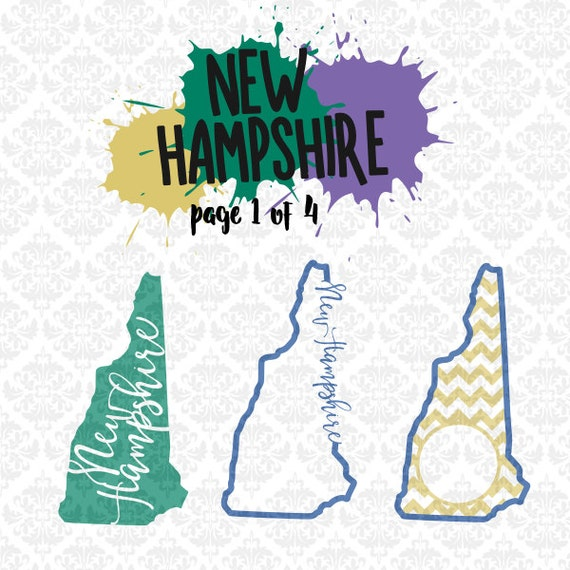 New Hampshire State Set Chevron Outline Home SVG DXF Ai EPS scalable vector instant download commercial use cutting file cricut silhouette