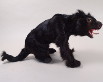 SALE!!!  Scary yet Interesting Furry Wolf Figurine