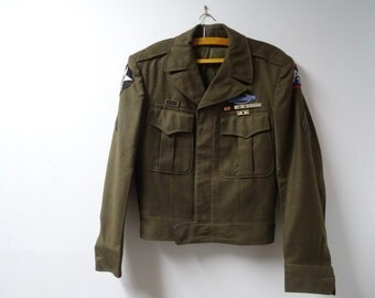 US Army Wool Jacket Occupation, Korean War Patches and Ribbons