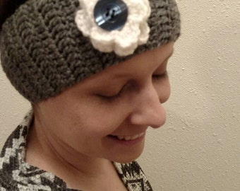 Gray head band (ear warmer)