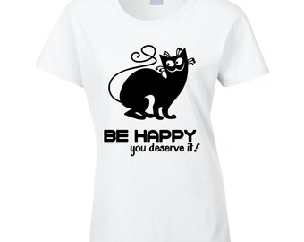 Happy Cat T Shirt