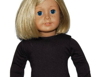 "Dark Brown Long Sleeve Tee Shirt - Doll Clothes made to fit 18"" American Girl Dolls"