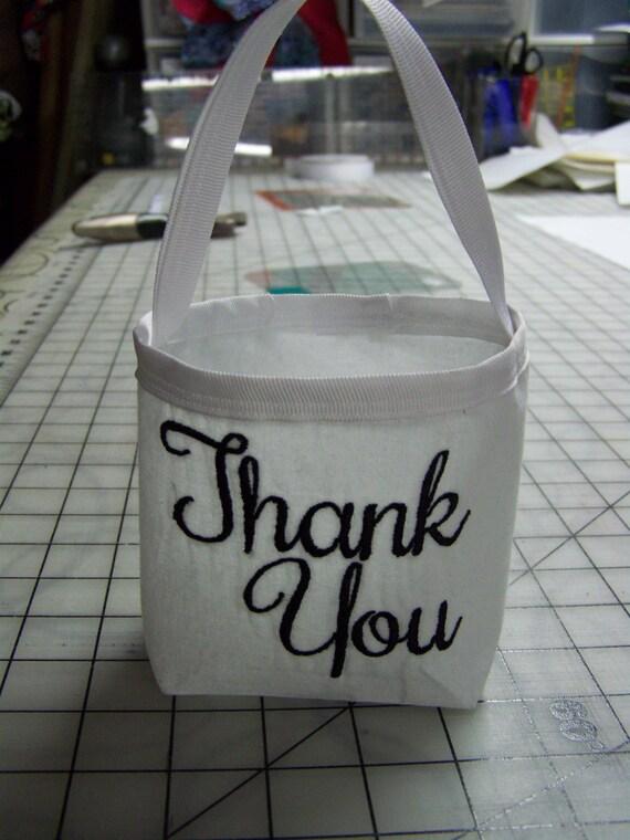 Wedding Gift Bag Thank You : wedding favor gift bag, personalized thank you bag