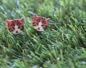 "Itty Bitty Kitty ""Robinson"" Cufflinks. Cat Cufflinks. Kitty Cufflinks. Crazy Cat People. Life's too short to wear boring Jewellery."