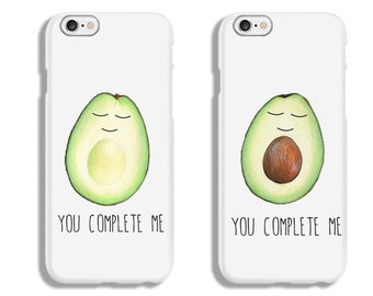 You complete me avocado couple IPhone cases Matching couple IPhone case IPhone 6 case IPhone 6s case IPhone 6 + case IPhone 6s Plus