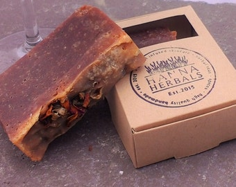 Merlot Soap - Wine Soap - Vegan Soap - Cold processed soap - all natural soap