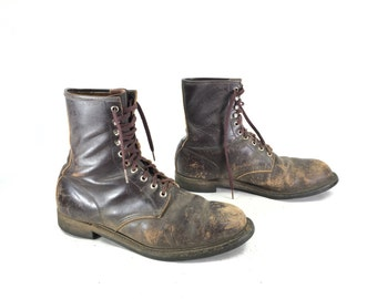 Size 11.5 EE - Men's Mason Vintage Work Boots Brown Leather