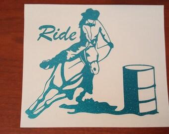 Just Ride Pattern Vinyl Decals