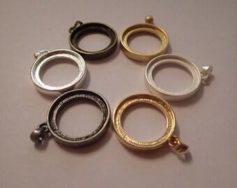 Double sided pendant base 2pcs, bronze colour