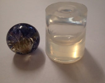 25 mm sphere  clear silicone mould for resin jewellery