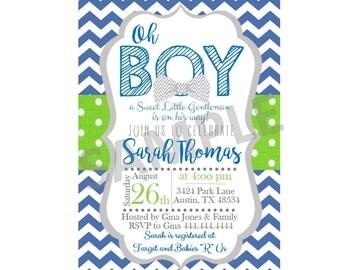Baby boy, Baby boy shower, baby shower invitation, Boy Shower Invite, Little Man Invitation, New baby