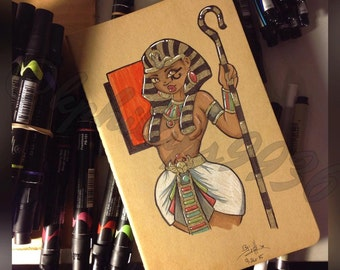 Egyptian Royalty_custom moleskin sketchbook