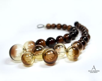 Necklace Shangrao Yellow-Brown