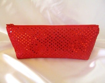 Red Sequin Clutch - Red Sequin Bag - Bridesmaid Sequin Clutch - Holiday Clutch - Special Occasion - Winter Formal Clutch