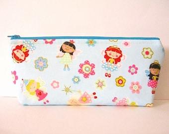 Fairy Princess Zipper Pouch - Pencil Case - Toiletry Bag - School Supplies - Essential Oils Case - Makeup Bag - Medicine Bag - Lipstick Bag