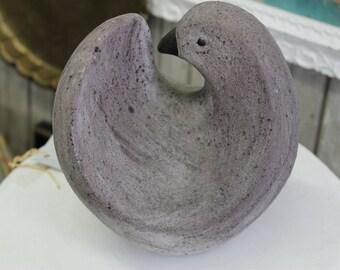 Gray Ceramic Bird