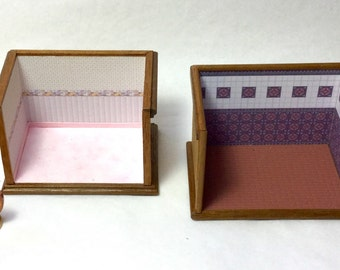 Micro roombox ready to be furnished 1/144 scale, handmade, ooak