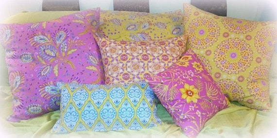 Linen/Cotton Decorative Pillow Covers For Sofa, Bed or Guest Bedroom Choice of Pattern & Sizes Available