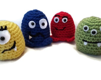 Crochet Monster, Monster, Small Toy, Monster Toy, Crochet Toy, Colorful Monster, Stocking Stuffer, Unique Baby Toy, Baby, Toddler