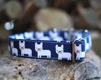 Frenchie Collar | Dog Collar | Male Dog Collar | Female Dog Collar | Novelty Dog Collar | Pet Collar | Large Dog Collar | Small Dog Collar