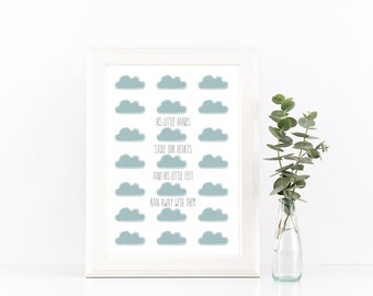 Baby Boy  Cloud Print