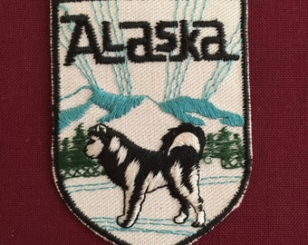 Alaska Vintage Souvenir Travel Patch from Voyager