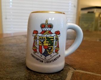 Ottlinger Sevelan Porcelain Mini Stein Furstentum Liechtensten