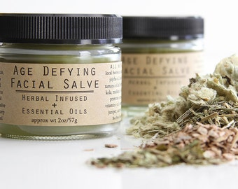 Age Defying Facial Salve - Herbal Infused + Essential Oils